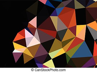Colorful triangles background polygons