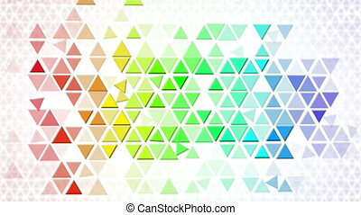 colorful triangles geometric backg