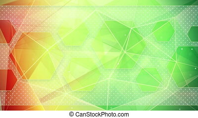 colorful triangles loop background