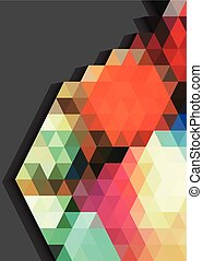 Colorful triangles pattern abstract on gray background