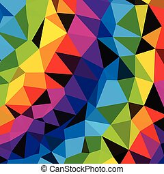 Colorful Triangles Pattern  background. Clip-art