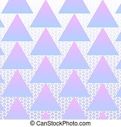 Colorful triangles pattern background with halftone vector