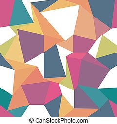 Colorful triangles. Seamless abstract geometric pattern