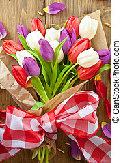 Colorful tulips for easter