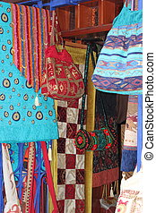 Colorful Turkish fabrics