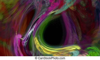 Colorful twirl abstract background loop - Colorful twirl...