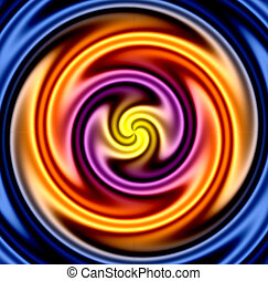 Colorful twirl - very liquid looking. Makes a great background.