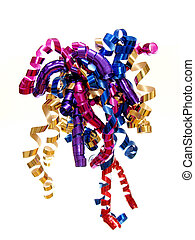 Colorful twirled ribbon or bow - Colorful twirled gift ...