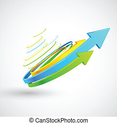 Colorful Twisted Arrow - illustration of colorful twisted...