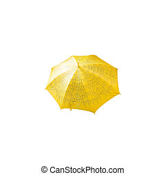 Colorful umbrella for protection against sun and rain