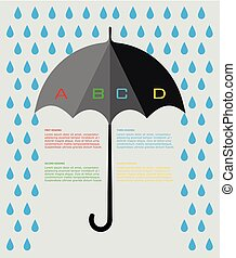 Colorful umbrella infographic