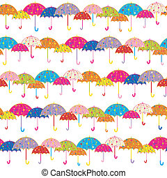 Colorful Umbrella Seamless Pattern Background