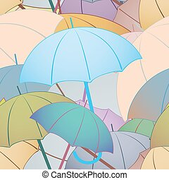 Colorful umbrellas. Seamless background