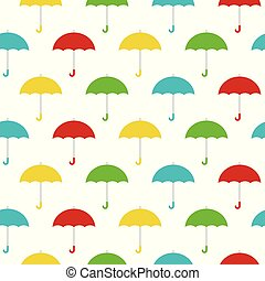 Colorful umbrellas seamless background pattern vector illustration.