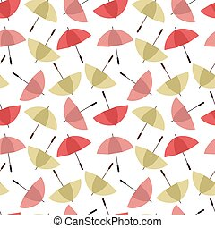 Colorful umbrellas seamless background pattern vector illustration