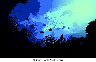 Colorful Underwater Life Template - Colorful underwater life...