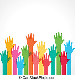 colorful up hand background - vector illustration