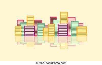 Colorful urban city design vector flat