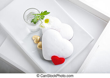 Colorful Valentine Cookies served on a white plate