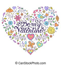 Colorful Valentines card