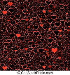 Colorful Valentine's day background with hearts