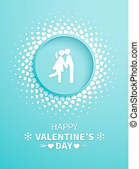 Valentines Day card with couple