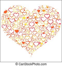 Colorful Valentine's day with hearts