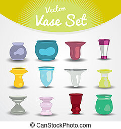Colorful vases set