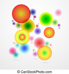 Colorful Vector Abstract Circle Background