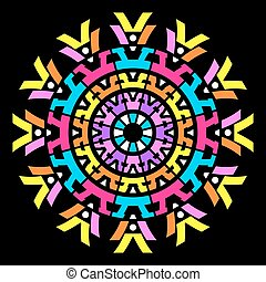 Colorful vector abstract mandala