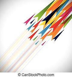 Colorful vector arrows and lines abstract background template