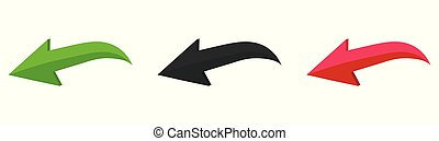 Colorful vector arrows on a white background. Vector illustration