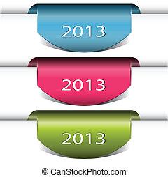 Colorful vector arrows stickers 2013