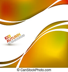 Colorful vector autumn background