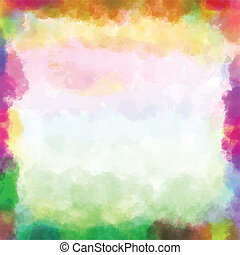 Colorful vector background isolated watercolor paint with circles