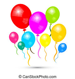 Colorful Vector Balloons Isolated on White Background
