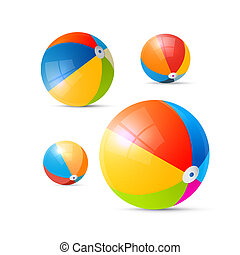 Colorful Vector Beach Balls