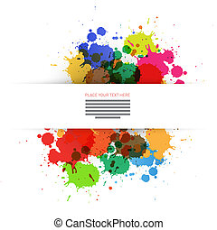 Colorful Vector Blots Background
