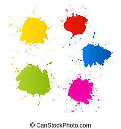 Colorful Vector Blots Icons