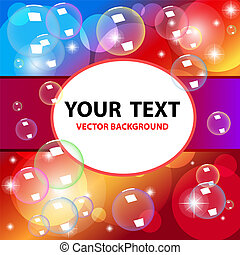 Colorful Vector bubbles background
