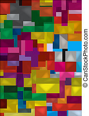 Colorful vector cube chaos, wallpaper - Illustration of a...