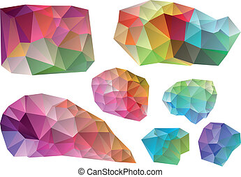 colorful vector design elements - colorful wrinkled design...