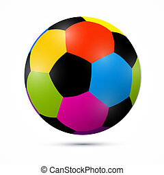 Colorful Vector Football Ball Illustration