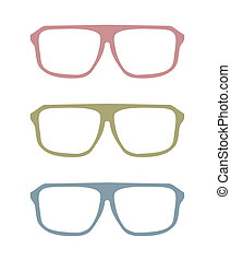 Colorful vector glasses set