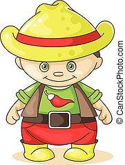 cartoon boy cowboy