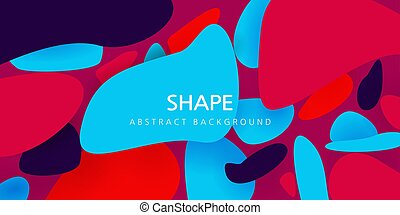 colorful vector illustration. fun design. blue, purple, pink. abstraction of stones for text