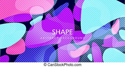 colorful vector illustration. fun design. pink, purple, blue. abstraction of stones for text