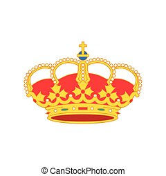 Colorful vector illustration of a crown background
