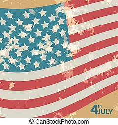 Colorful vector illustration of independence day USA