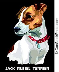 Colorful Vector Jack Russel terrier